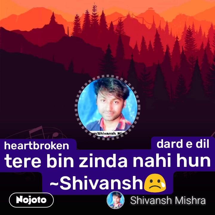 #NojotoVideoheartbroken dard e dil tere bin zinda nahi hun ~Shivansh😢 #NojotoVoice