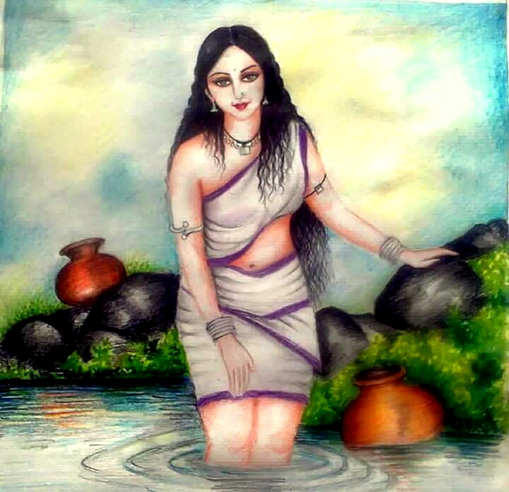 my old water colour drawing on quotes shayari story poem