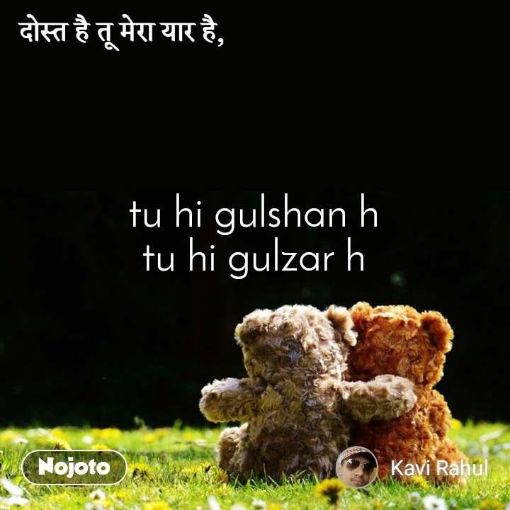 दोस्त है तू मेरा यार है, tu hi gulshan h tu hi gulzar h