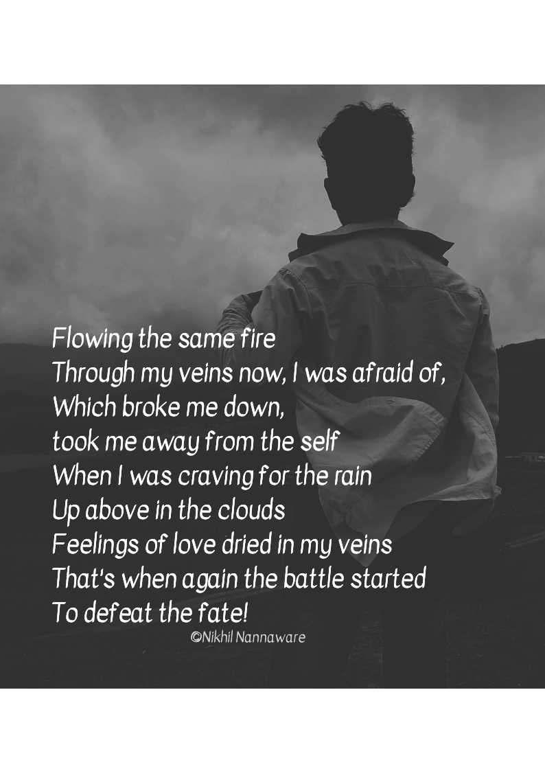 Blood In My Veins Poetry Love Pain Blood Life Rain Nojoto