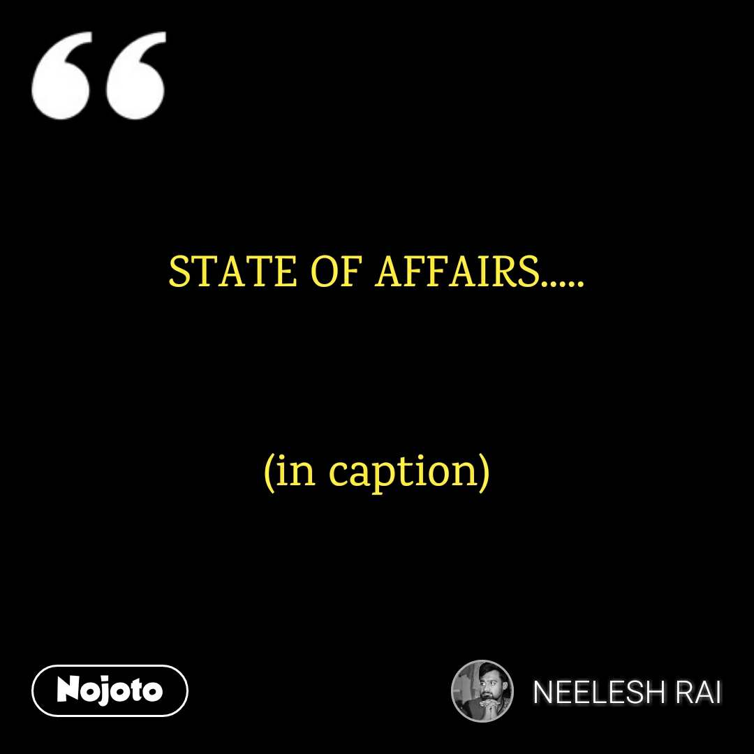 STATE OF AFFAIRS.....   (in caption)