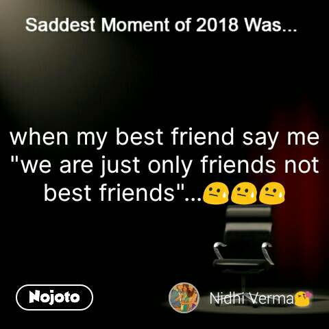 we are not best friends