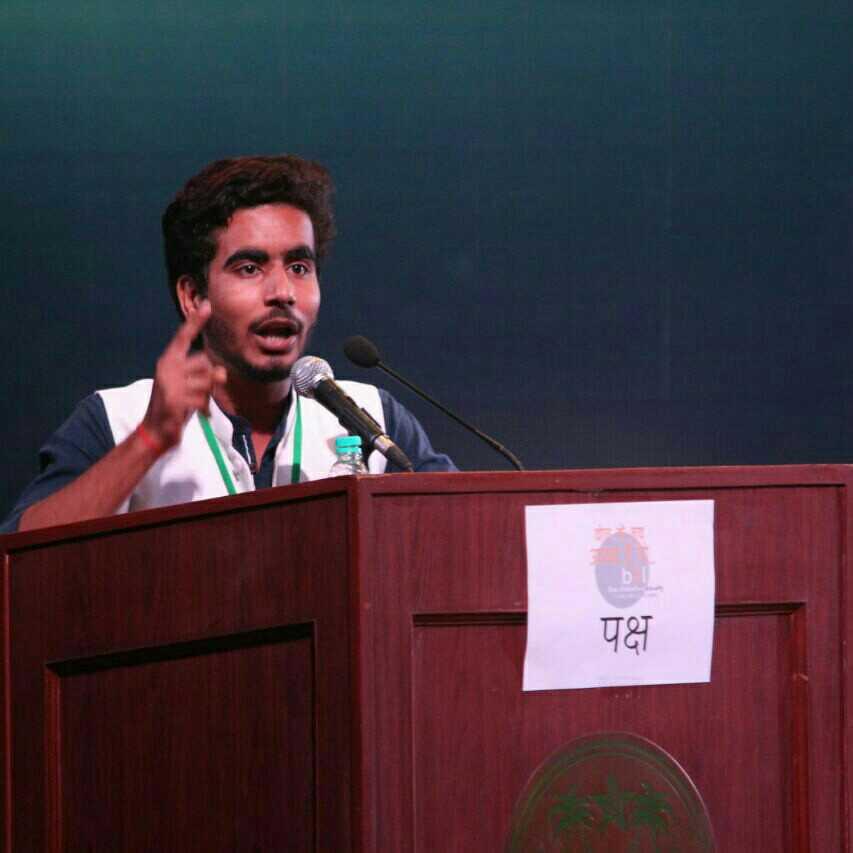 Akash Dwivedi National Debater, Anchor,storyteller, Studies at Makhanlal Chaturvedi national university of journalism and Communication