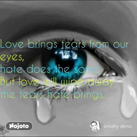 Soldier quotes in Hindi  Love brings tears from our eyes, hate does the same. But love will wipe away the tears hate brings. #NojotoQuote