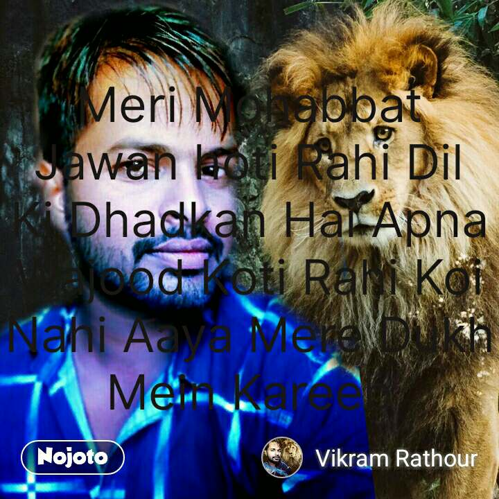 Travel quotes in Hindi Meri Mohabbat Jawan hoti Rahi Dil Ki Dhadkan Hai Apna Wajood Koti Rahi Koi Nahi Aaya Mere Dukh Mein Kareeb #NojotoQuote