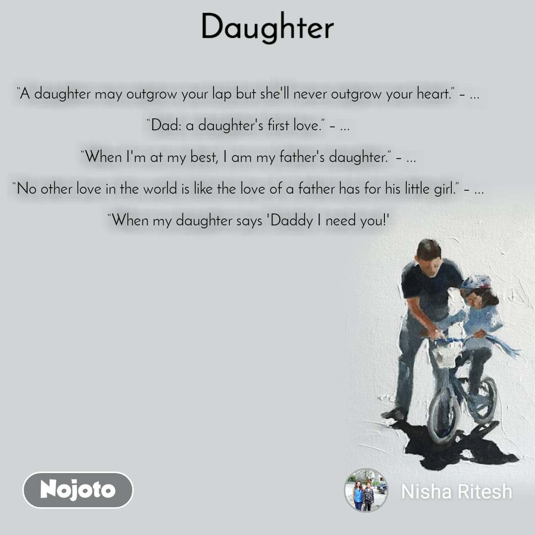 Latest a poem for my daughter Image and Video | Nojoto
