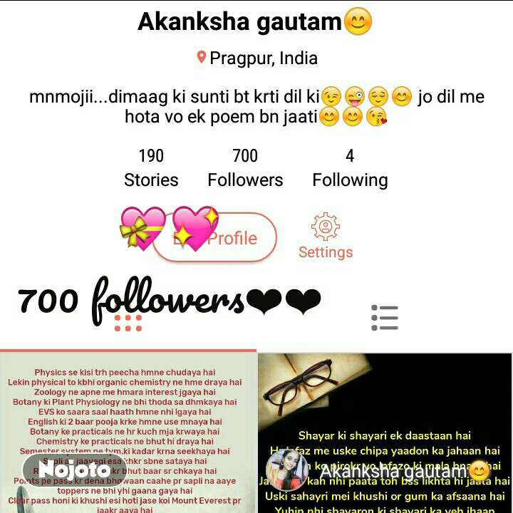 happiest moment of 2018  �💖 700 followers�� #NojotoQuote