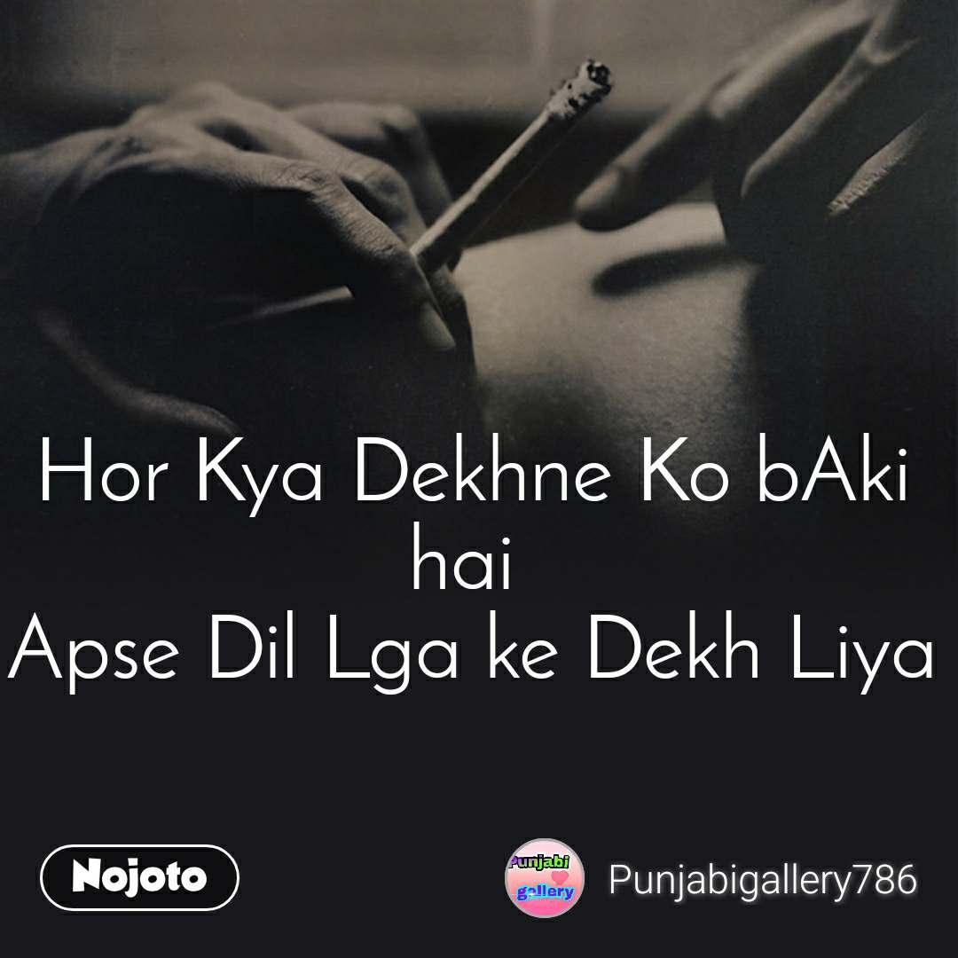 Hor Kya Dekhne Ko bAki hai  Apse Dil Lga ke Dekh Liya