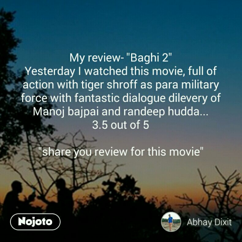 My review-