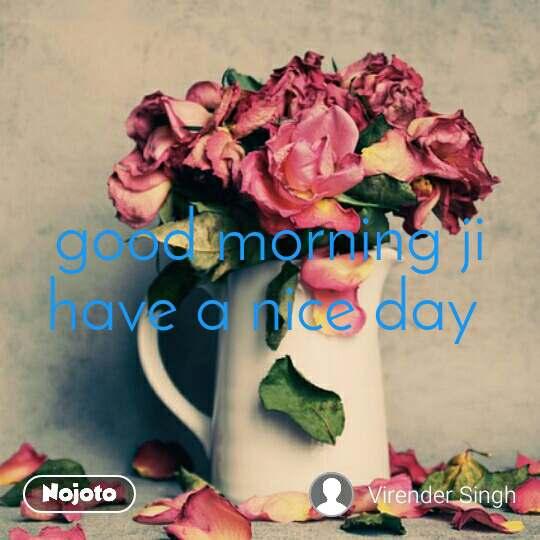 Good Morning Ji Have A Nice Day Quotes Shayari Story Poem Joke