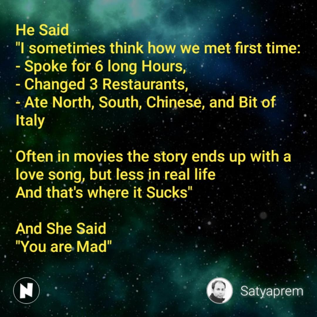 Best AndSheSaid Shayari, Status, Quotes, Stories   Nojoto
