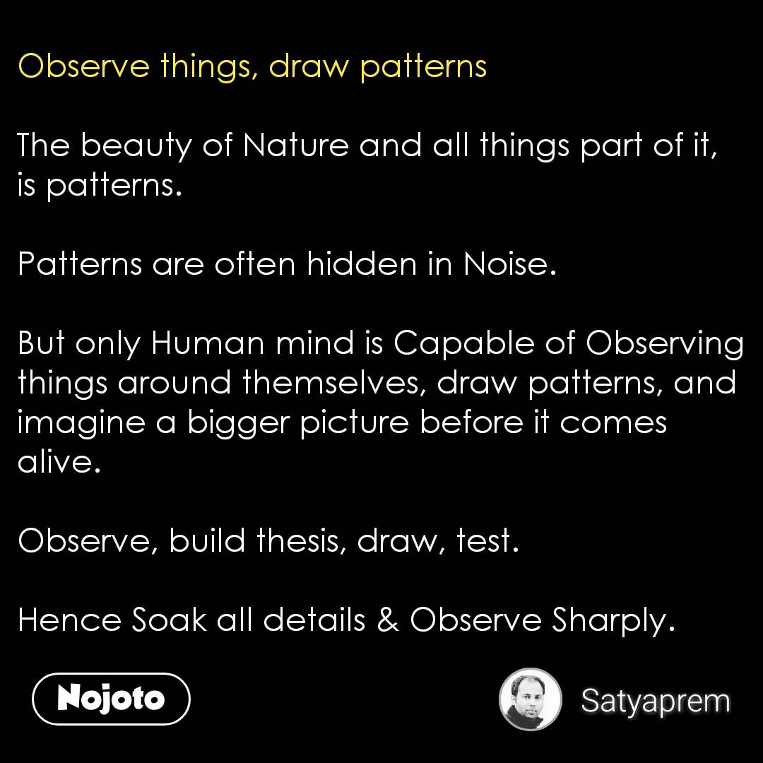 how to observe things