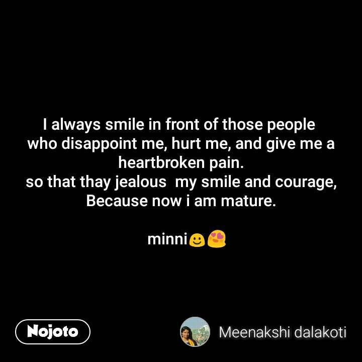 A heartbroken smile