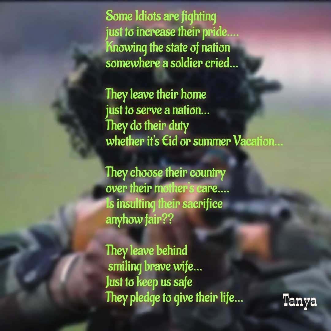 Their Sacrifice Soldier Nojoto Sacrifice Quotes Shayari