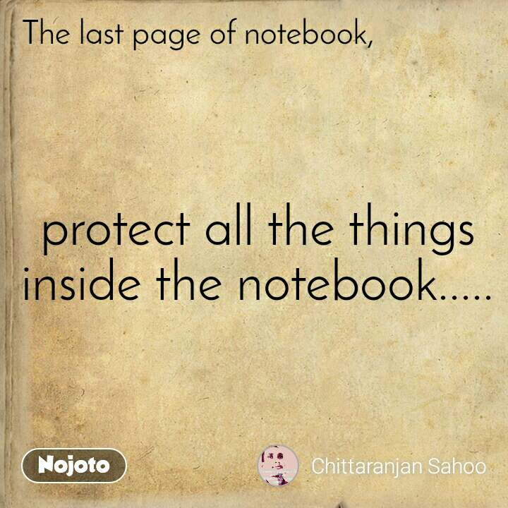protect all the things inside the notebook.....