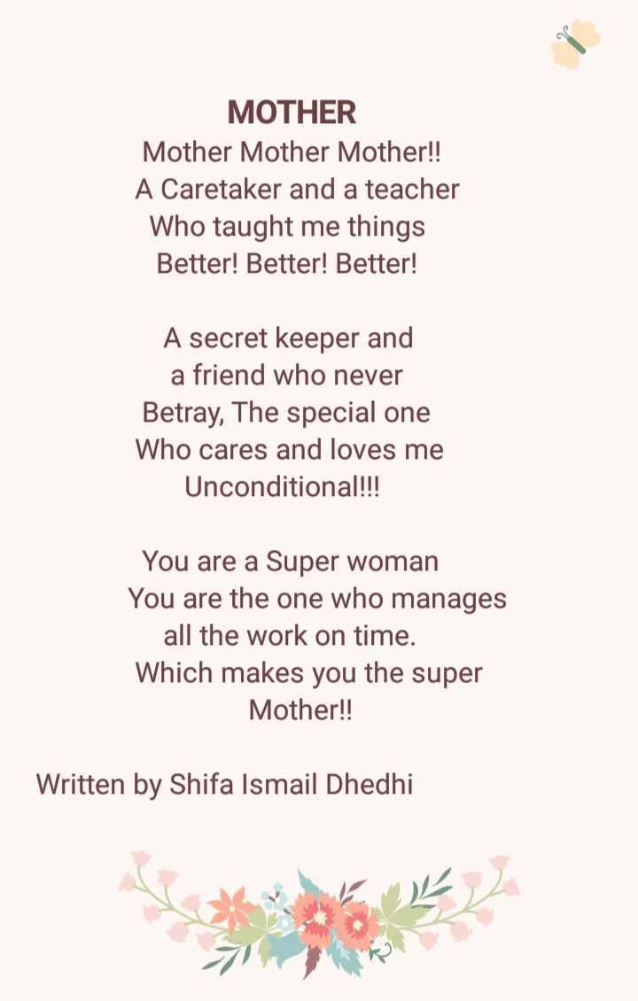Another poetry by me specially for occasion of mot | English