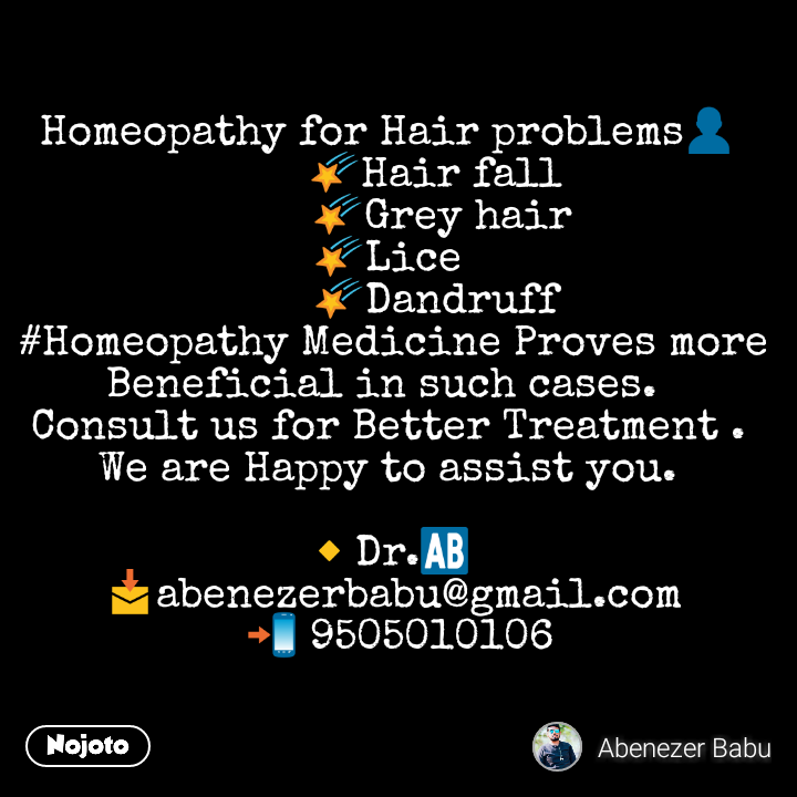 Homeopathy for Hair problems👤 🌠Hair fall   Nojoto