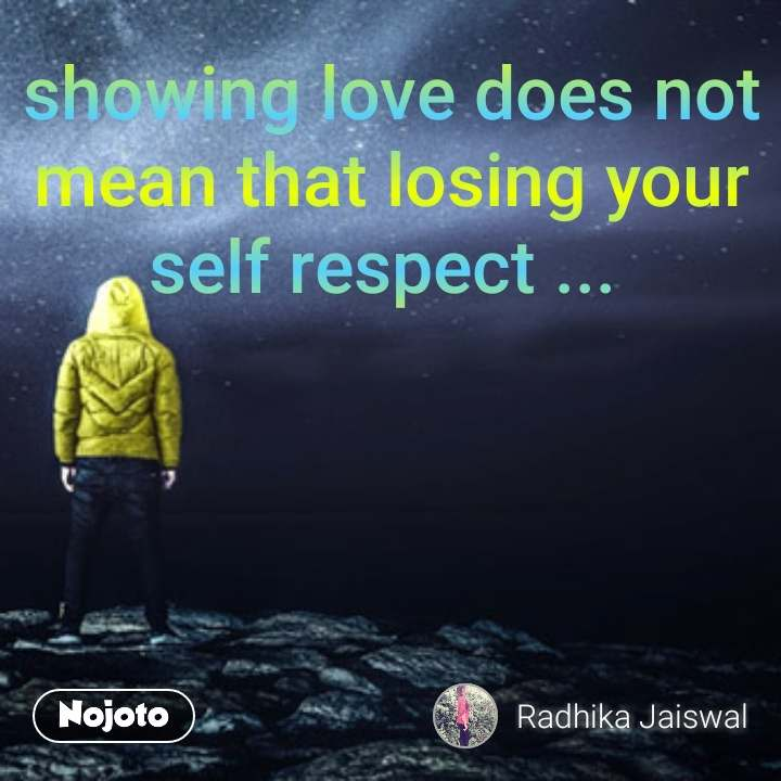 what does self respect mean to you