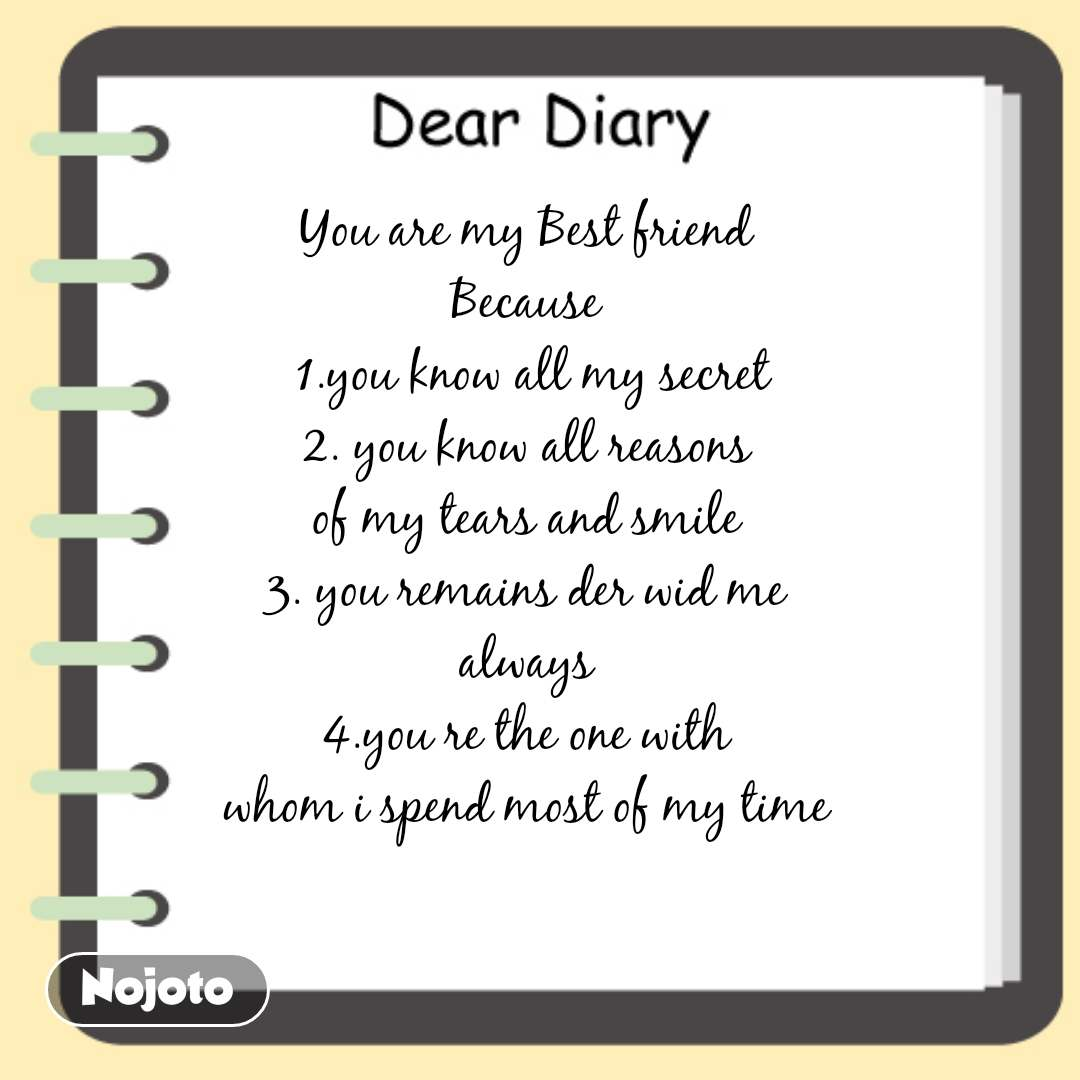 Dear Diary You Are My Best Fri Hindi Quotes Hindi Shayari