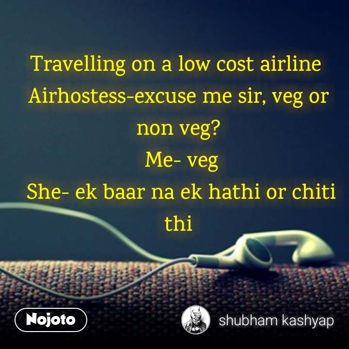Travelling on a low cost airline 