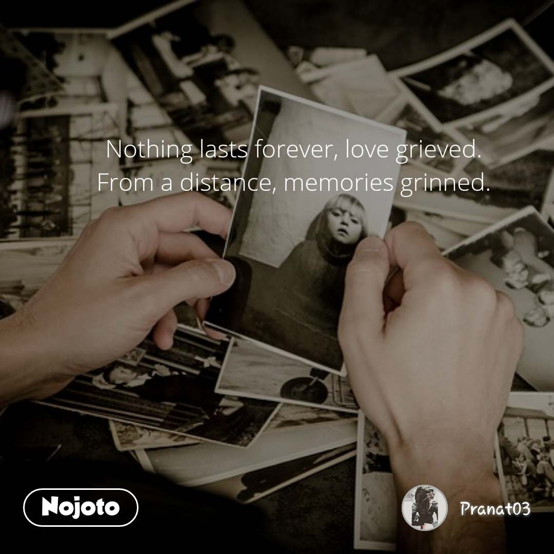 Nothing Lasts Forever Love Grieved From A Distance Memories