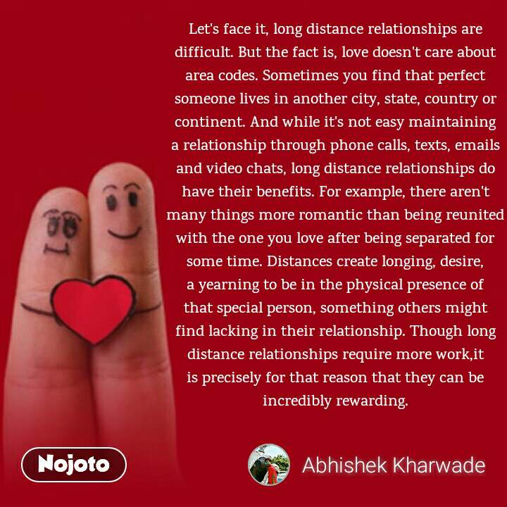 Let's face it, long distance relationships are dif | Nojoto