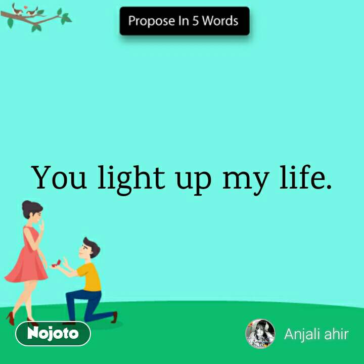 propose in 5 words you light up my life