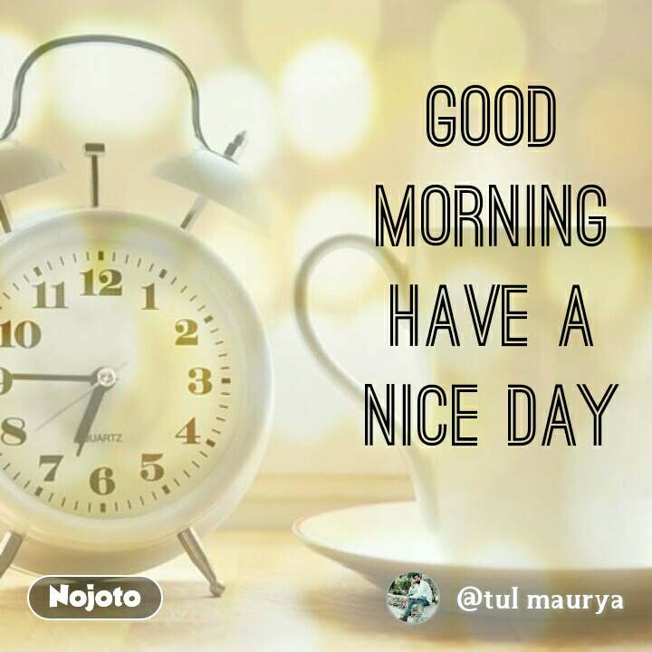 Good Morning Have A Nice Day At At Good At At Morning At At Quotes Shayar