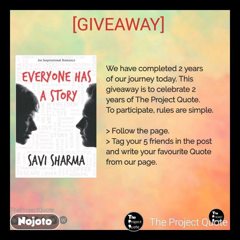 Last Giveaway Novel Everyone Has A Story Author Savi Sharma